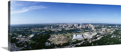 Aerial view of a city, Austin, Travis County, Texas