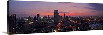 Aerial view of a city, Bangkok, Thailand