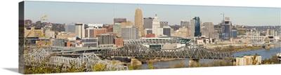 Aerial view of a city Cincinnati Hamilton County Ohio