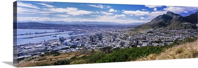 Aerial view of a city from Signal Hill, Cape Town, Western Cape Province, South Africa