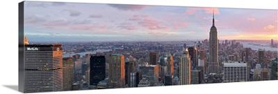 Aerial view of a city, Midtown Manhattan, Manhattan, New York City, New York State,
