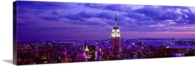 Aerial view of a city, Rockefeller Center, Midtown Manhattan, Manhattan, New York City, New York State,