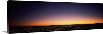 Aerial view of a city, San Fernando Valley, Los Angeles, California
