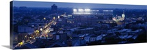 Aerial view of a city, Wrigley Field, Chicago, Illinois,