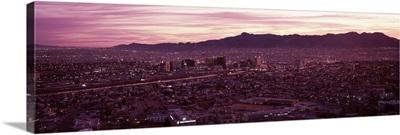 Aerial view of a cityscape, El Paso, Texas-Mexico Border