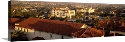 Aerial view of a cityscape, Santa Barbara, California,