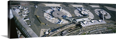 Aerial view of an airport, Newark International Airport, Newark, New Jersey