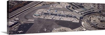 Aerial view of an airport, San Francisco, California
