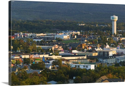 Aerial view of buildings in a city, Branson, Missouri