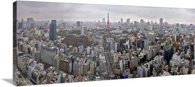 Aerial view of city from World Trade Center, Tokyo, Japan