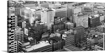 Aerial view of historic buildings in downtown Cincinnati Hamilton County Ohio