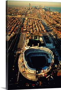 Aerial View Of Old Comiskey Park New Comiskey Park