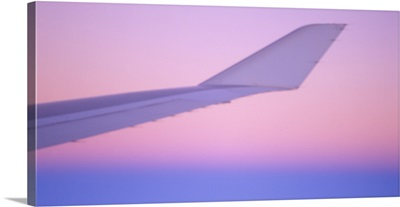 Airplane Wing tip at Sundown