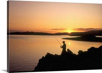Angler at Sunset, RoaringwaterBay, Co Cork, Ireland