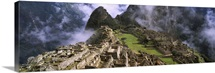Archaeological site, Inca Ruins, Machu Picchu, Cusco Region, Peru, South America