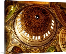 Architectural details of the ceiling of St. Paul's Cathedral, London, England