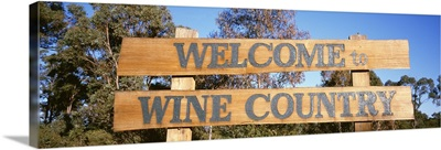 Australia, Welcome To Wine Country, sign