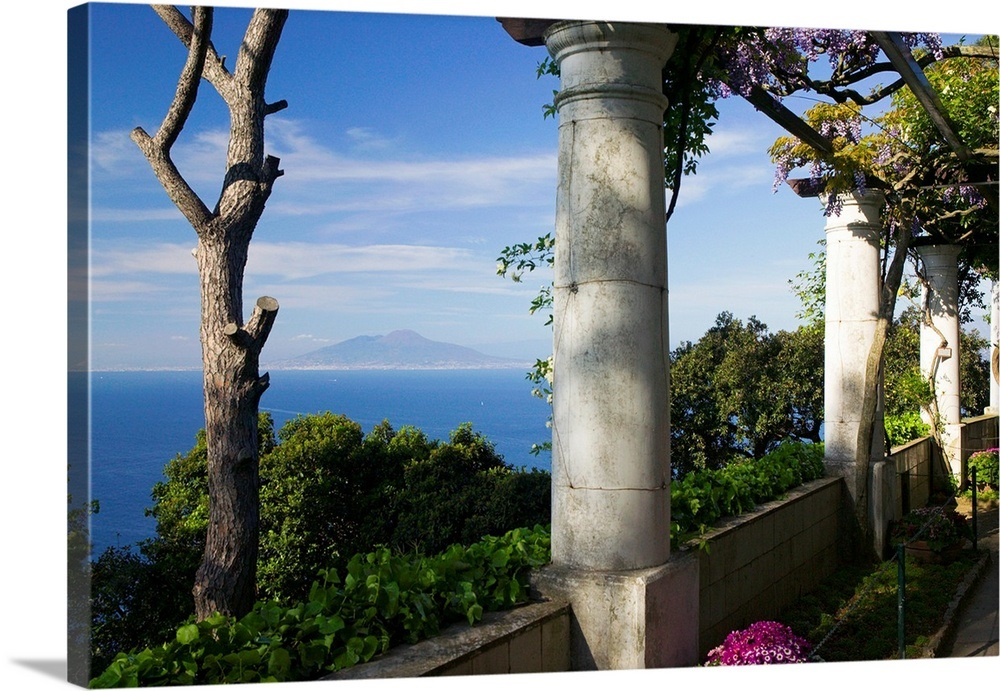 Balcony Overlooking The Sea Villa San Michele Capri Naples Campania Italy