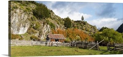 Barn in a ranch, Valle Exploradores, Aysen Region, Patagonia, Chile