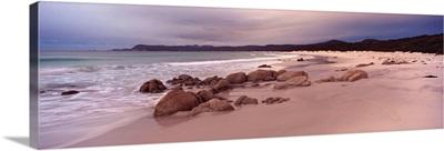 Beach at dawn, Friendly Beaches, Freycinet National Park, Tasmania, Australia