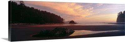 Beach at dusk, Olympic National Park, Washington State