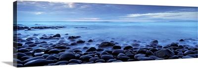 Beach at dusk, Westward Ho, North Devon, Devon, England