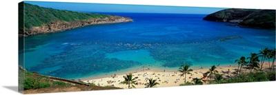 Beach at Hanauma Bay Oahu Hawaii