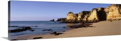 Beach Coastline Algrave region Lagos S Portugal