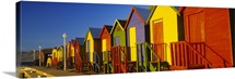 Beach huts in a row, St James, Cape Town, South Africa