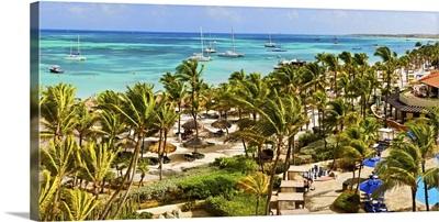 Beach resort, Aruba, West Indies