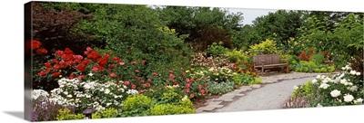 Bench in a garden, Olbrich Botanical Gardens, Madison, Wisconsin