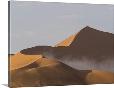 Big Daddy sand dunes in a desert, Sossusvlei, Namib-Naukluft National Park, Namibia