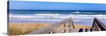 Boardwalk leading towards a beach, Playlinda Beach, Canaveral National Seashore, Titusville, Florida
