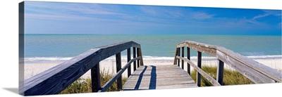 Boardwalk on the beach, Gasparilla Island, Florida