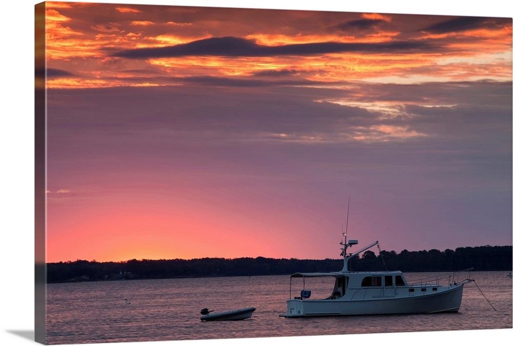 Boat In The River Saint Michaels Chesapeake Bay