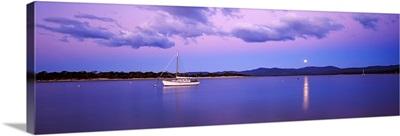 Boat in the sea, Port Sorell, Tasmania, Australia