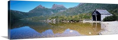 Boathouse at Dove Lake, Cradle Mountain-Lake St Clair National Park, Tasmania, Australia