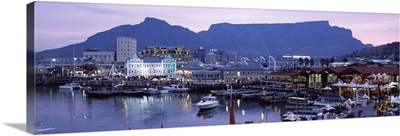 Boats at a harbor, Victoria And Alfred Waterfront, Table Mountain, Cape Town, Western Cape Province, South Africa