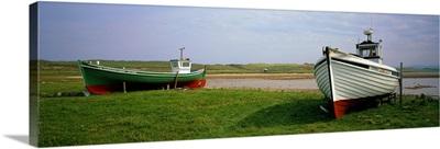 Boats at Meenlaragh Beach County Donegal Ireland