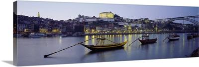 Boats in a river, Douro River, Porto, Portugal