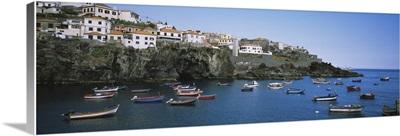 Boats in the sea, Camara De Lobos, Madeira, Portugal
