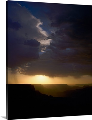 Breaking storm at sunset over the Grand Canyon, Arizona
