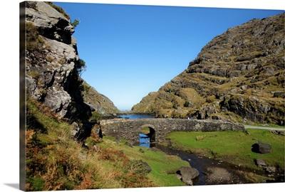 Bridge above Coosaun Lake, The Gap of Dunloe, Killarney National Park, Ireland