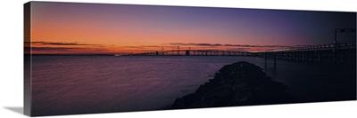 Bridge across a bay Chesapeake Bay Bridge Maryland