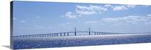 Bridge across a bay, Sunshine Skyway Bridge, Tampa Bay, Florida