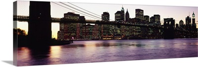 Bridge across a river, Brooklyn Bridge, East River, Manhattan, New York City, New York State