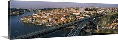 Bridge across a river, Dom Luis I Bridge, Duoro River, Porto, Portugal