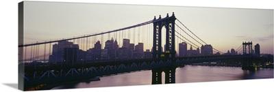 Bridge across a river, Manhattan Bridge, East River, Manhattan, New York City, New York State