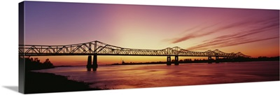 Bridge across a river, Mississippi River, Natchez, Mississippi