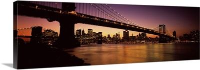 Bridge across the river, Manhattan Bridge, Lower Manhattan, New York City, New York State